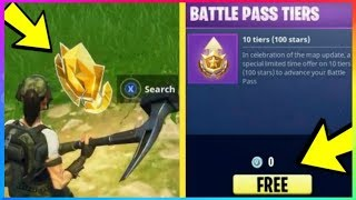 Find SECRET FREE Battle Stars WEEK 2 For Free Tiers! (Fortnite Battle Royale Season 4)