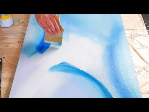 Easy Abstract Acrylic Painting Demo - Speed Painting - 'Under the sea'