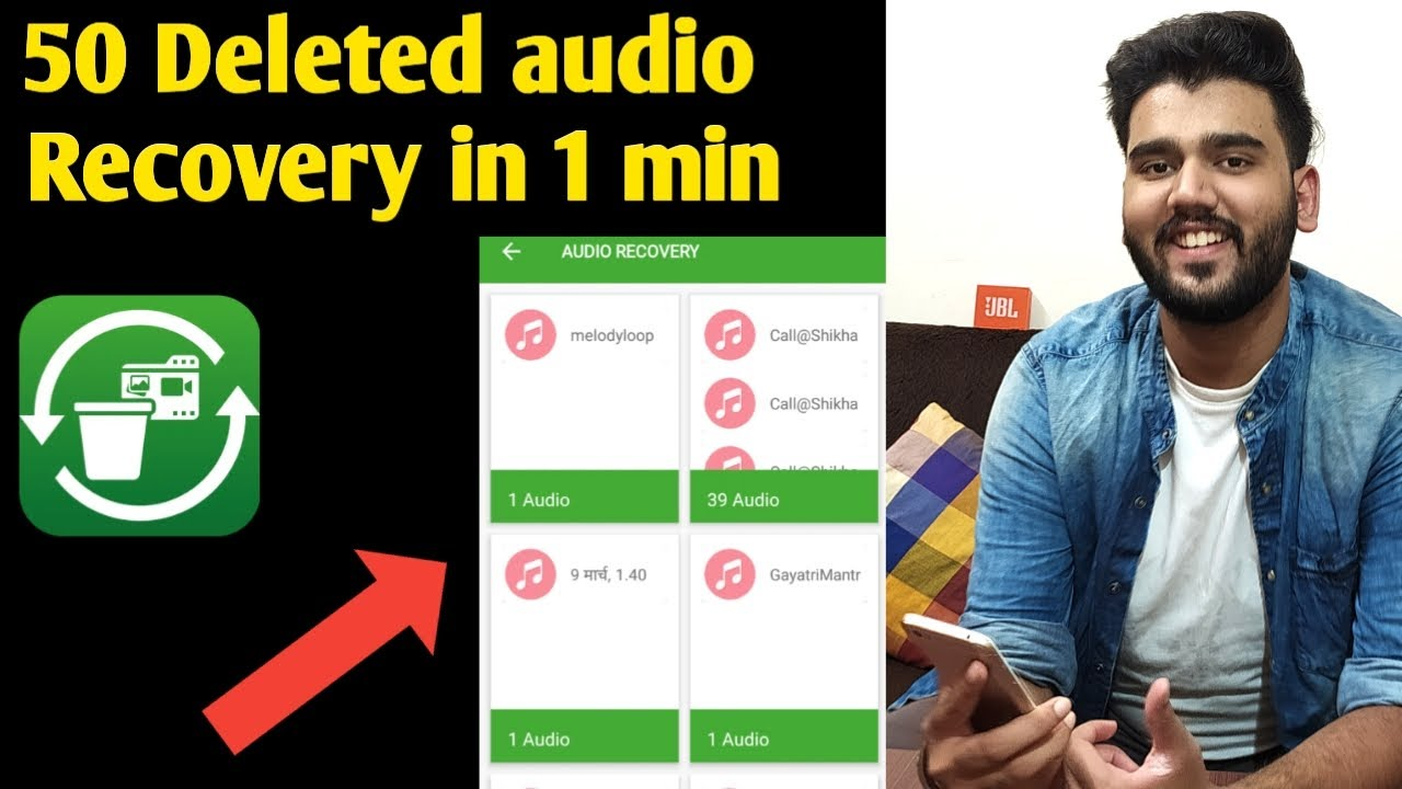 Download How to recover deleted audio files 2020   Photo's & Video's recovery app 2020   Audio recovery app