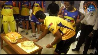 Birthday celebration Vijay, Flem and Lakshimi - CSK