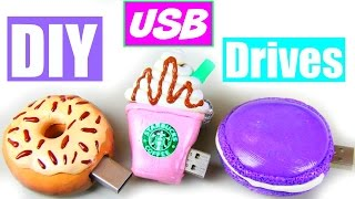 DIY: USB Drives! Starbucks, Donut & Macaron!