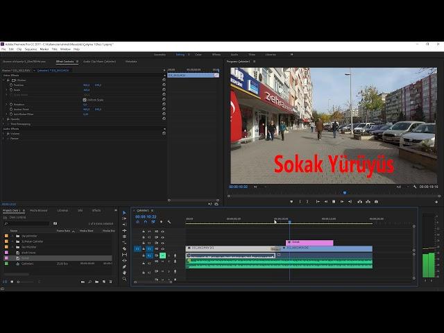 Premiere Pro Eğitimi 19 – Videolar üzerine yazı yazmak