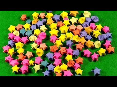 DIY: easy paper stars Paper stars!origami stars lucky paperstars ! wishing stars