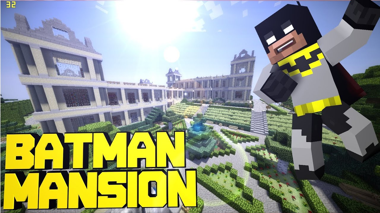 Minecraft PE Batman\'s Mansion + BatCave ! [DOWNLOAD] - YouTube