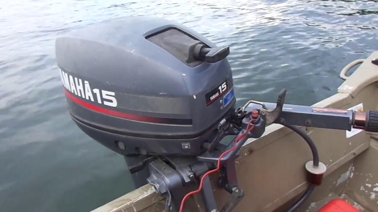 1997 yamaha 15 hp 0n 1448 jon boat youtube for 2004 yamaha 15 hp 4 stroke