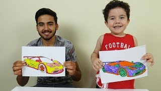 3 Marker Challenge with Model Cars | Learn Colors with Cars