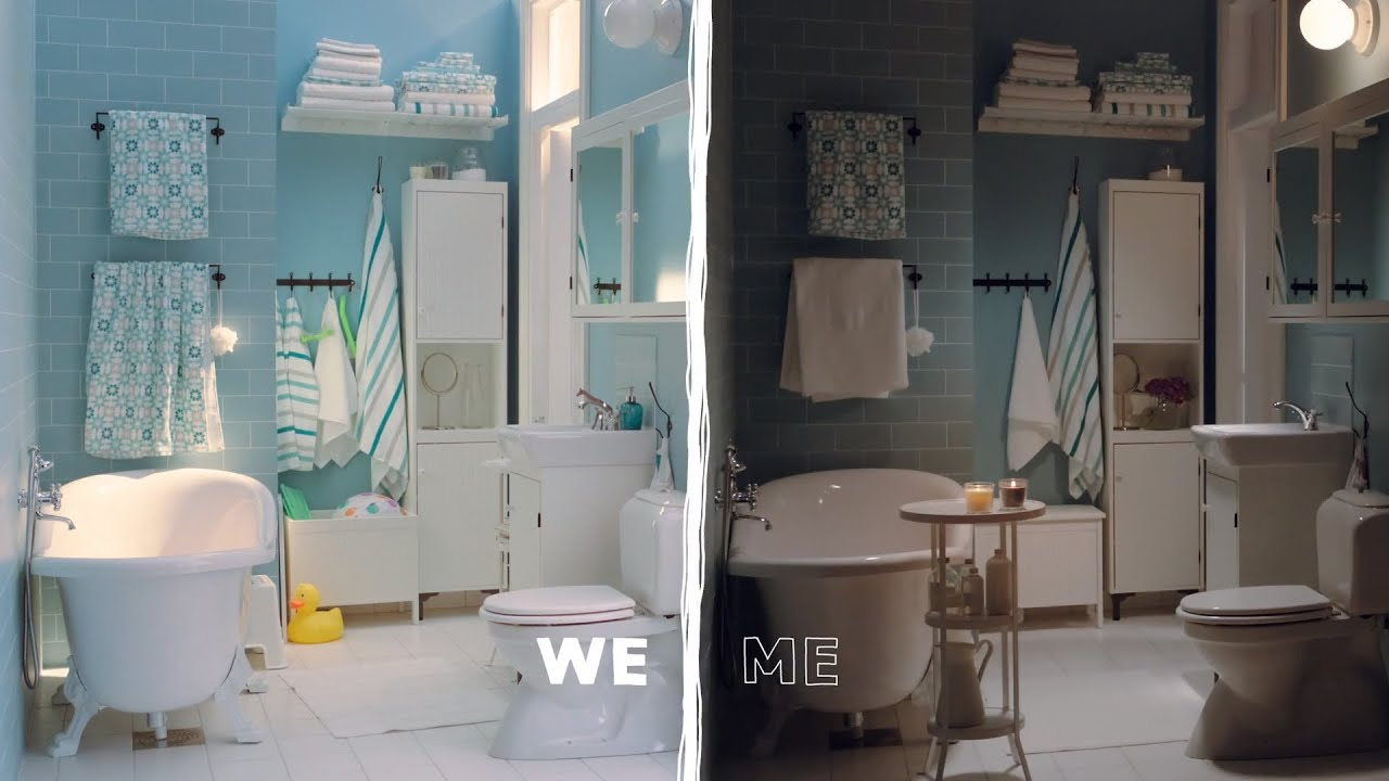 Ikea family bathroom or grown up 39 s retreat have both youtube - Ikea bathrooms images ...