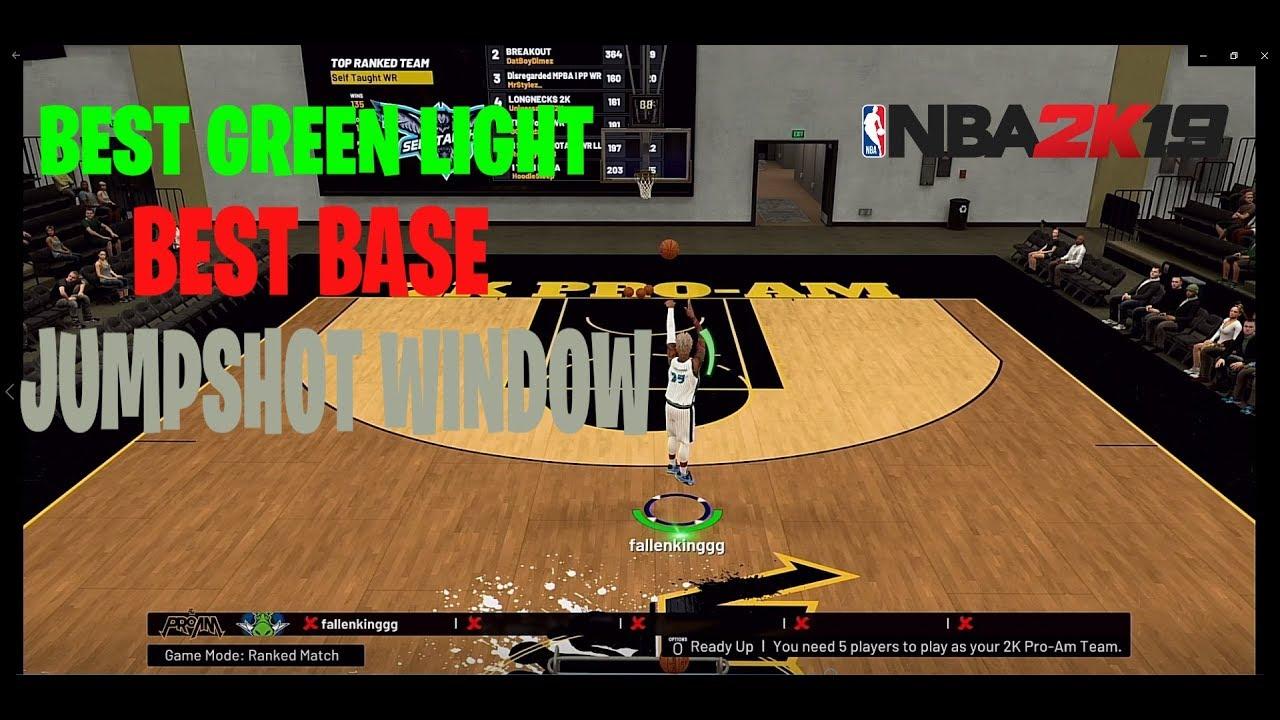 NBA2K19 BEST GREEN JUMPSHOT 100% GREEN BEST GREEN WINDOW for all builds