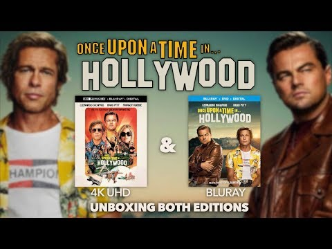 ONCE UPON A TIME IN HOLLYWOOD - 4K ULTRA HD & BLURAY (2 EDITIONS) - UNBOXING REVIEW   BLURAY DAN
