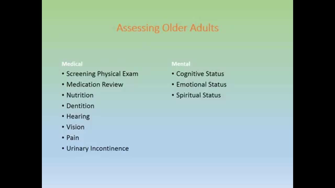 geriatric assessment malnutrition Malnutrition increases incidence of illness demographics of nutrition in older adults geriatric assessment of nutritional status.