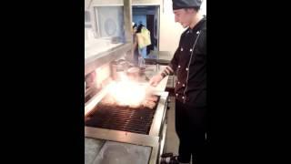 Жарка мяса на гриле