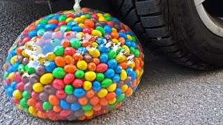 Crushing Crunchy & Soft Things by Car! EXPERIMENT CAR vs GIANT M&M BALLOON