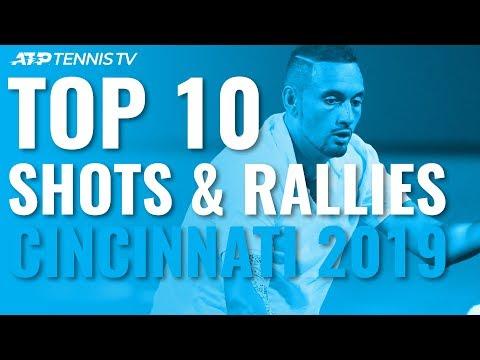 TOP 10 BEST SHOTS AND RALLIES   CINCINNATI 2019