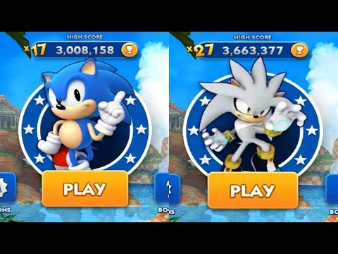 Sonic Dash Android Gameplay - CLASSIC SONIC VS SILVER