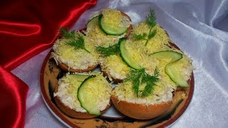 Бутерброды на праздничный стол. Бутерброды с рыбой