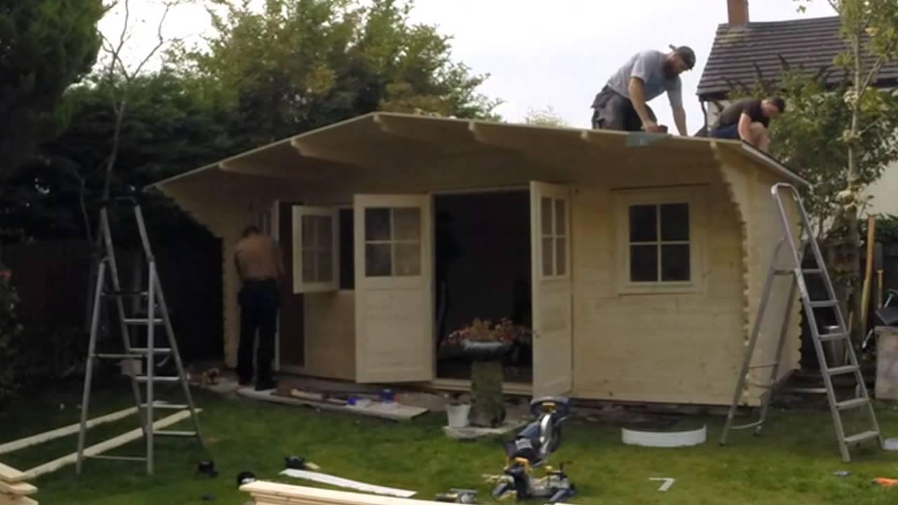 building a log cabin eden pod time lapse youtube