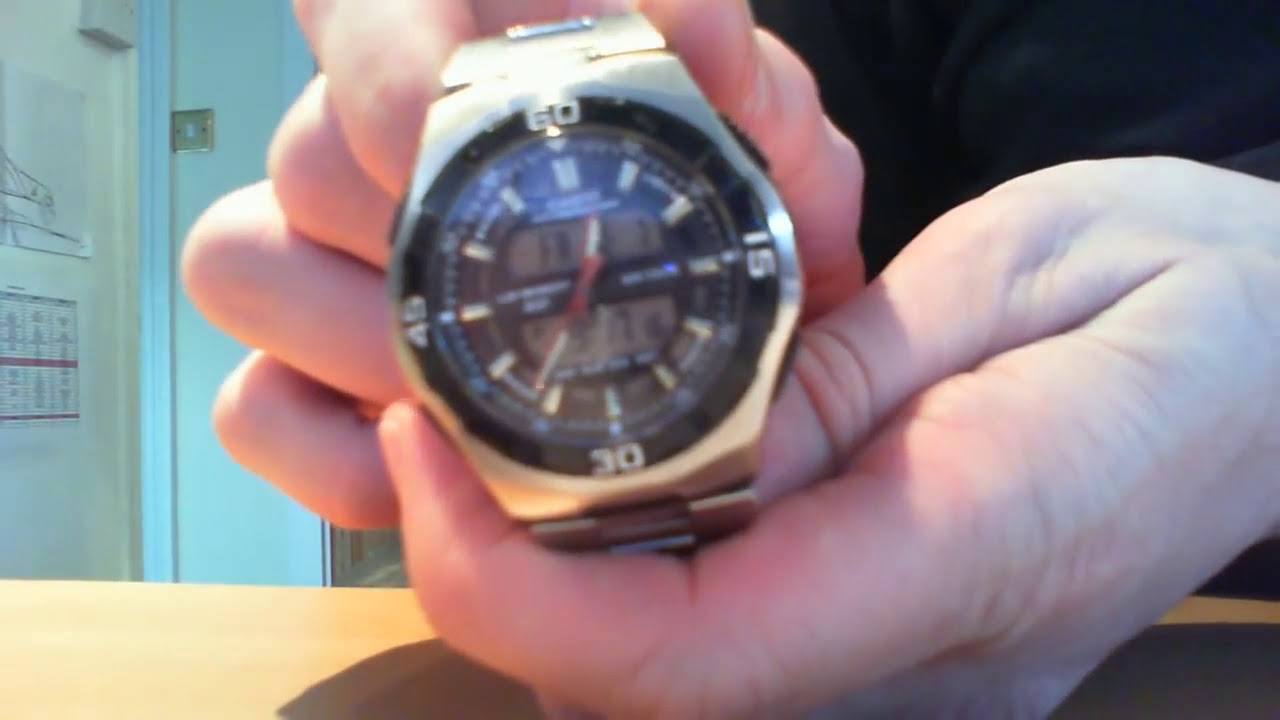 how to change the analogue time on a casio aq 164w watch youtube rh youtube com Casio Keyboard Owner's Manual Casio Watch Manual