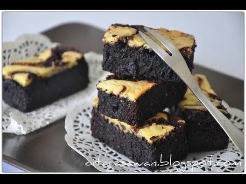 resepi-cheese-brownies