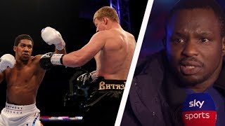 Dillian Whyte reacts to Anthony Joshua