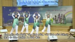 Nhóm Múa Chiếc Cầu Tình Yêu Chúa 한국 예능교회에서 찍꺼우