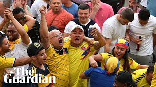 Colombia fans go crazy after late equaliser over England in World Cup last-16 clash