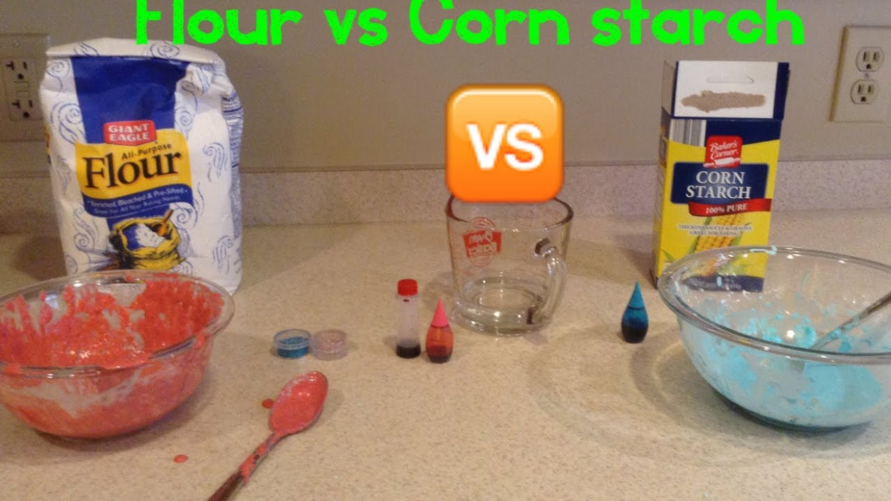 DIY slime experiment! Flour vs Corn starch My Little Pony Fun Toys Channel
