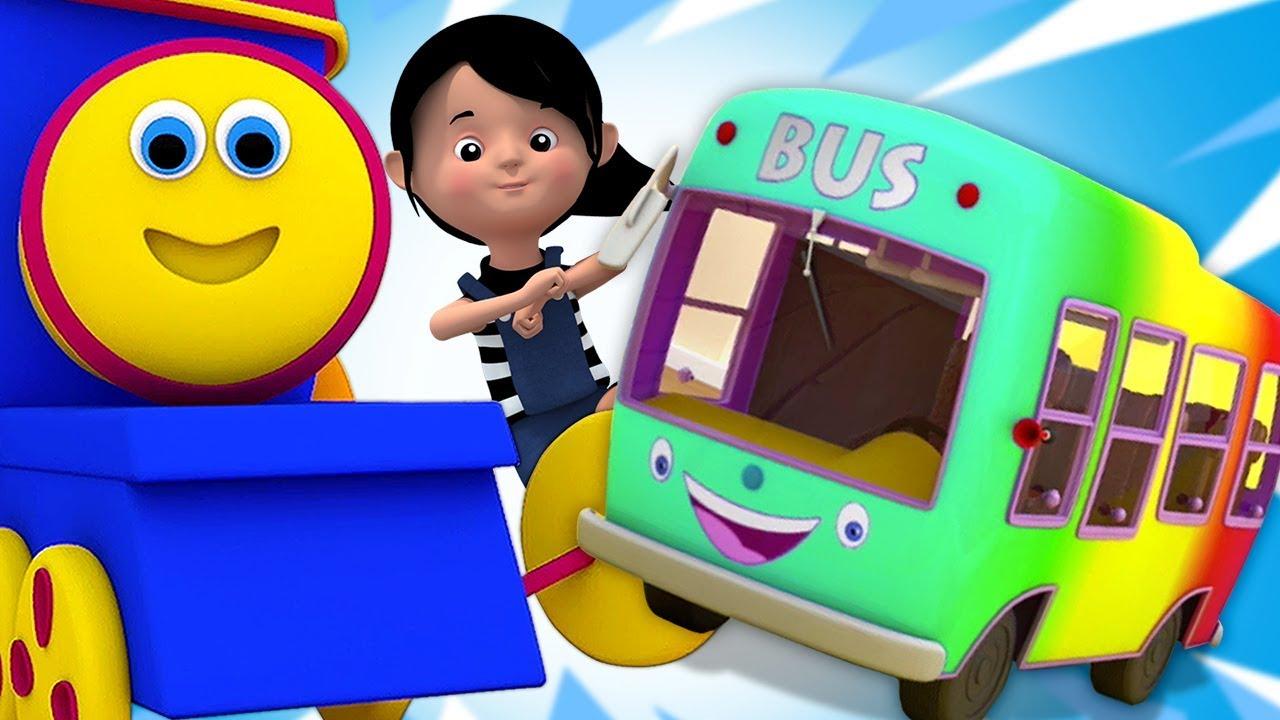 bob le train roues sur le bus comptines bob wheels on the bus youtube. Black Bedroom Furniture Sets. Home Design Ideas