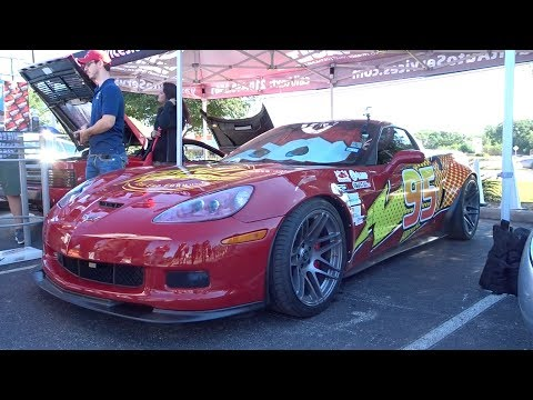 Real Life Lightning McQueen - San Antonio Cars and Coffee