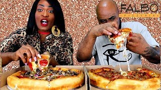 PIZZA MUKBANG! + BEEF PEPPERONI! WOULD YOU RATHER TAG!