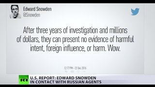 Repeat youtube video Snowden in contact with Russian intelligence – US House report
