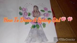 How to draw a spring girl