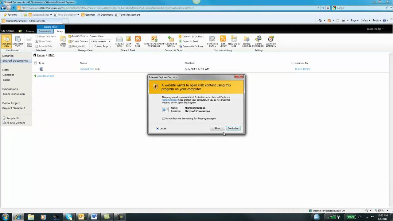 Create a Document Library in SharePoint 2010 (Part 1) - YouTube