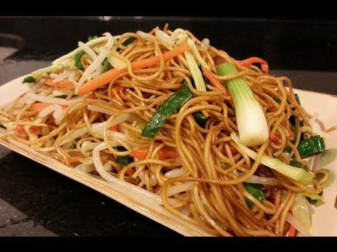 How to Make Vegetarian / Non - Vegetarian Chow Mein   素豉油王炒麵