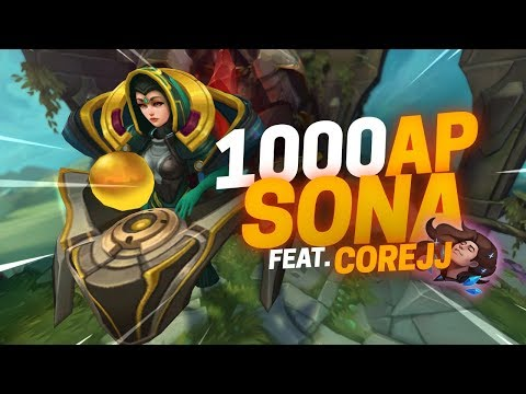 Doublelift - Getting 1000AP with Sona/Taric Bot (feat. CoreJJ)