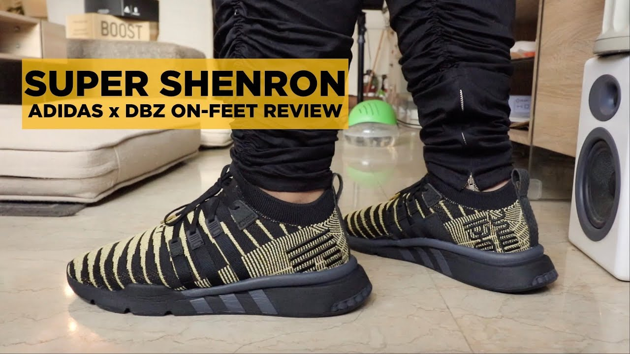 52516cd41f9bb ADIDAS DRAGON BALL Z GOLDEN SHENRON ON-FEET REVIEW - YouTube