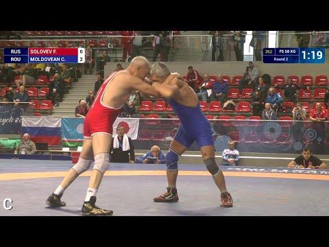 Round 2 FS - 58 kg: C. MOLDOVEAN (ROU) df. F. SOLOVEV (RUS) by FALL, 7-0