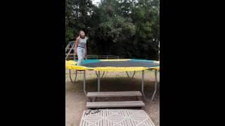 Chute de trampoline mdr