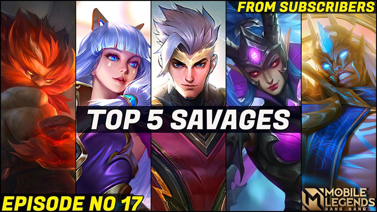Download Mobile Legends TOP 5 SAVAGE Moments Episode 17- FULL HD