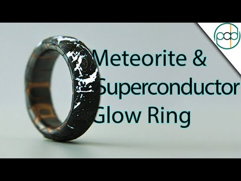 Making a Cracked Meteorite and Superconductor Glow Ring