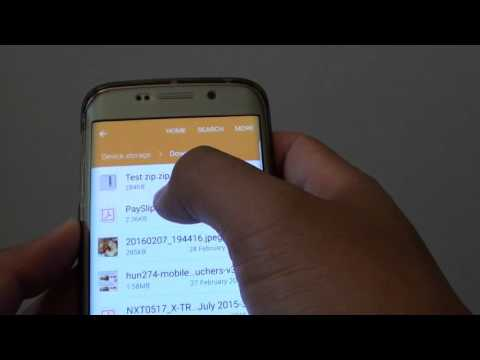 Samsung Galaxy S6 Edge: How To Compress And Create Zip File