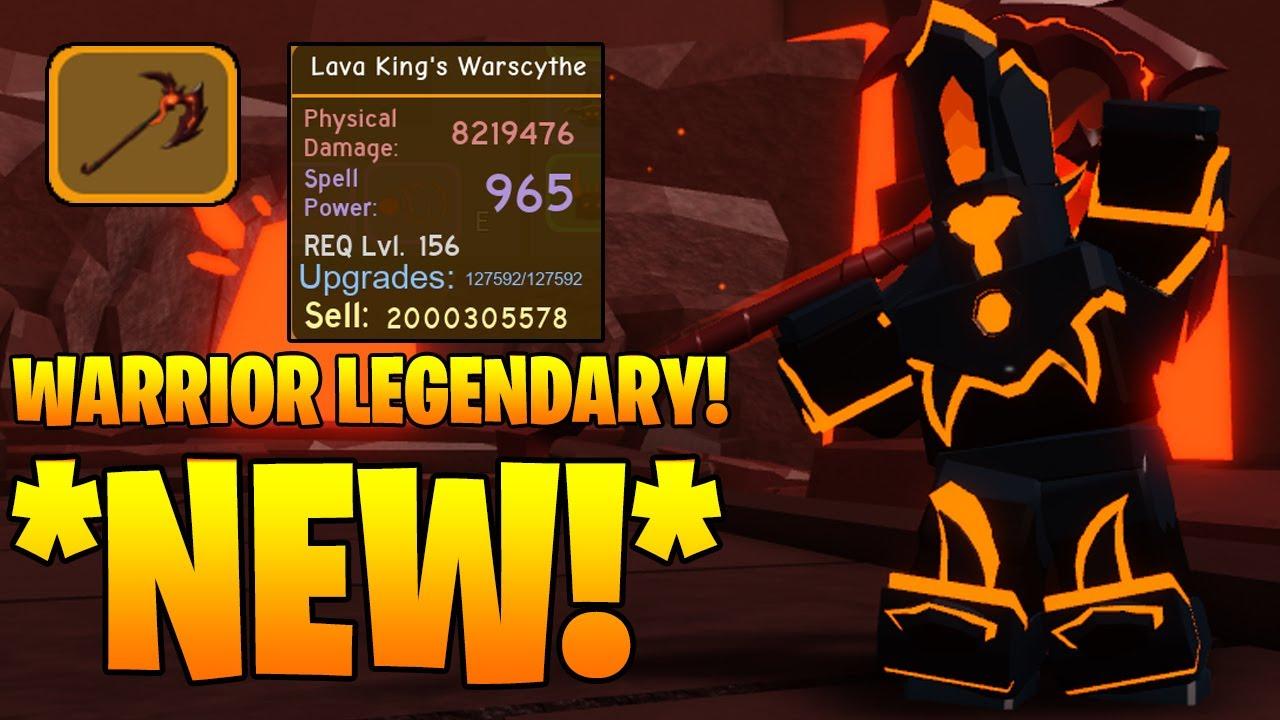 Volcanic Chambers Legendary Warrior Lava King S Warscythe