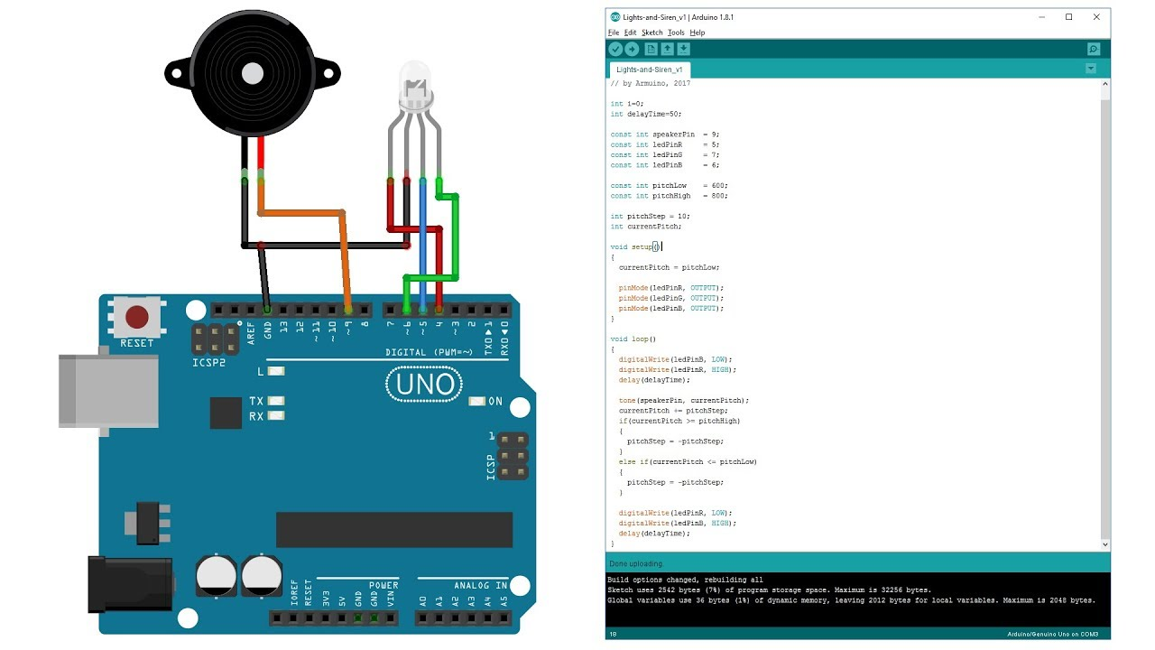 Fun Programming With Arduino Flashing Lights And Siren Youtube Us Police Circuit Using 555 Timer