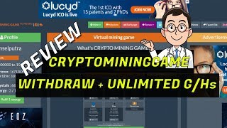 LEGIT Withdraw Cryptomininggame Unlimited G/Hs Cloud Mining
