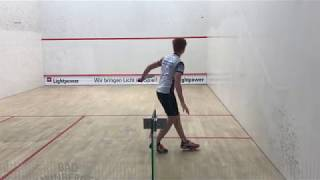 Rückhand Longline im Squash
