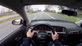 Audi A6 3.2 FSI (2007) on German Autobahn - POV Test Drive