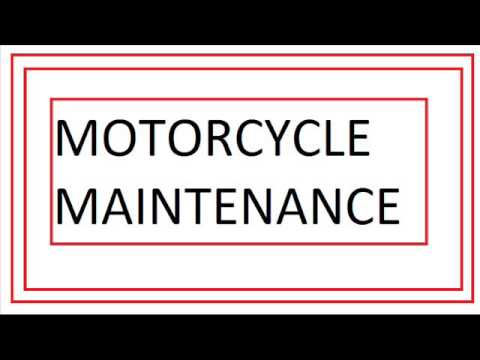 Two must see tips for motorcycle - basic motorcycle maintenance