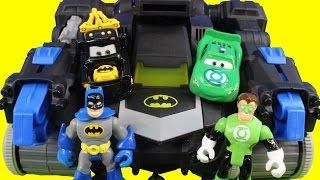 Disney Cars Pixar Custom Mater Lightning McQueen start Imaginext Batman Hall Of Justice on fire