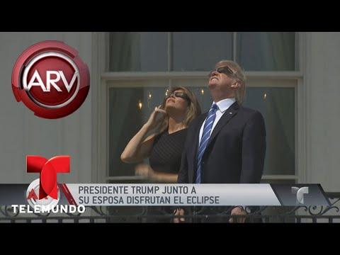 Trump se unió a la euforia para ver el eclipse de sol | Al Rojo Vivo | Telemundo
