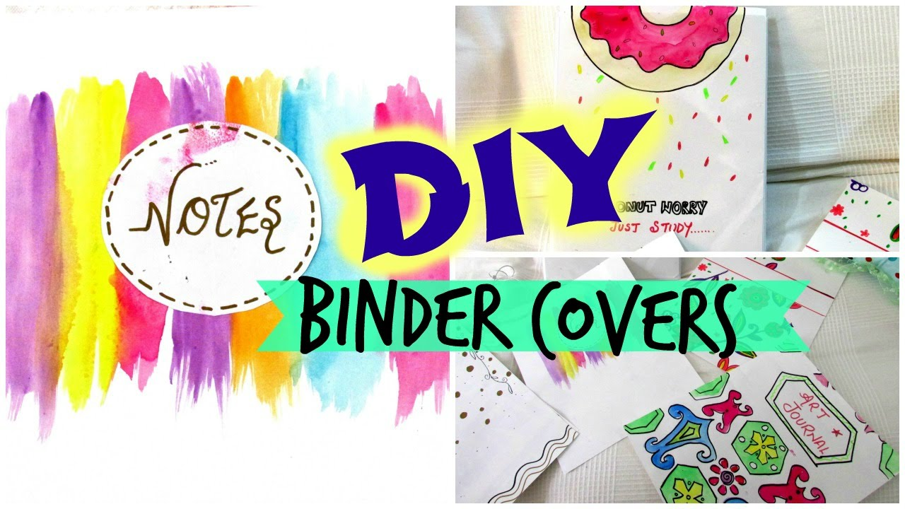 Simple Book Cover Drawing ~ Diy binder covers easy and affordable youtube