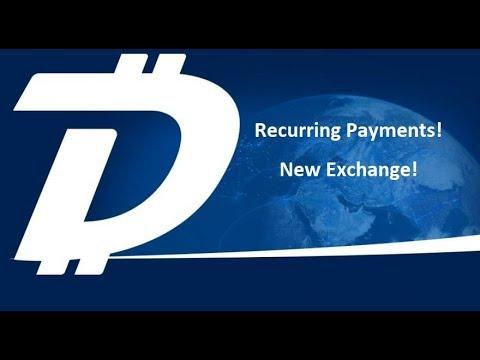 DigiByte - Recurring Payments! - New Exchange Listing! - Market Turning Bullish
